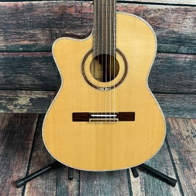 Ortega Left Handed RCE138-T4-L Acoustic Electric Cutaway Classical Guitar for sale