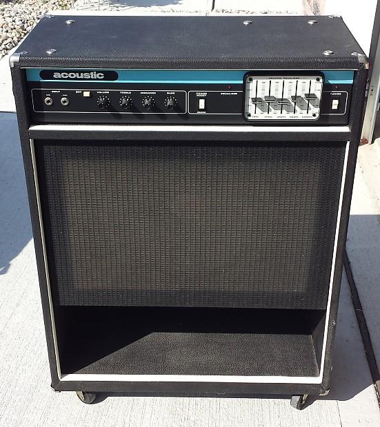 vintage acoustic control model 126 100w bass combo amp made reverb. Black Bedroom Furniture Sets. Home Design Ideas