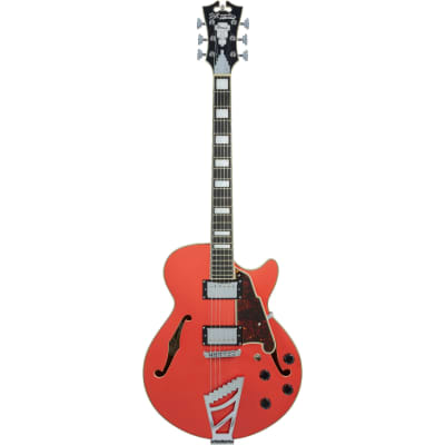 D'Angelico Premier SS Stairstep Fiesta Red Semi-Acoustic Guitar with Gig Bag for sale