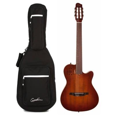 Godin Multiac Encore Nylon String Acoustic-Electric Guitar Burnt Umber (042180) (Demo Unit) for sale