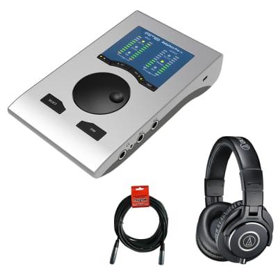 RME Babyface Pro FS 24-Channel 192kHz USB Audio Interface with Audio-Technica ATH-M40x Headphones & XLR Cable Bundle