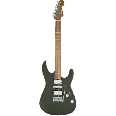 Charvel Pro-Mod DK24 HSH 2PT CM Caramelized Maple Fingerboard Matte Army Drab for sale