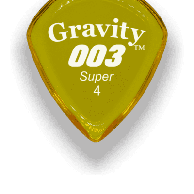 Gravity Picks 003 Super 4mm Yellow Acrylic  <G003S4P>