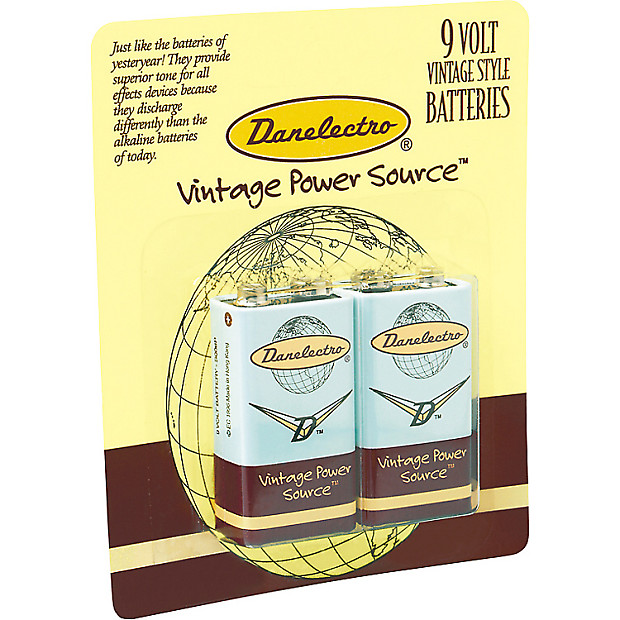 danelectro db 2pk 9 volt batteries for guitar effects pedals reverb. Black Bedroom Furniture Sets. Home Design Ideas