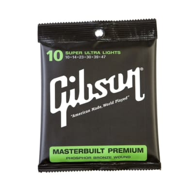 Gibson Masterbuilt Premium Phosphor Bronze Acoustic Strings Super Ultra Lights 10-47 for sale