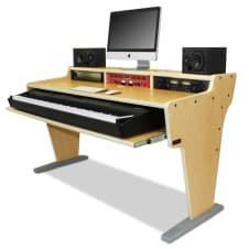 az studio spike 88 keyboard music production desk in maple