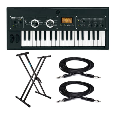 Korg microKORG XL+ 37-Key Synthesizer/Vocoder Bundle with Stand and Cables