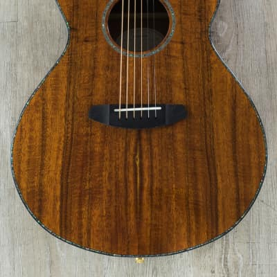 Breedlove Pursuit Exotic Concert CE Koa Acoustic-Electric Guitar w/ Gig Bag