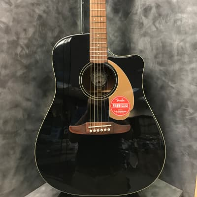 Fender California Series Redondo Player Dreadnought with Electronics 2019 Jetty Black
