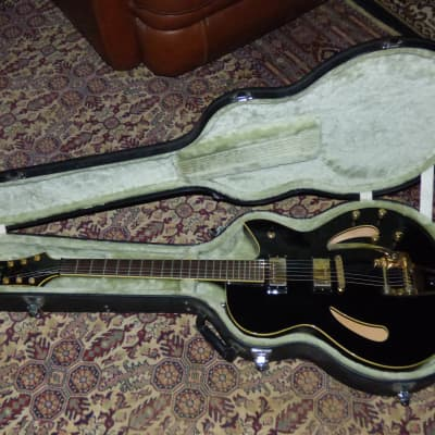 Cort J. Triggs TRG-2 Semi Hollow Body Black Guitar w/ OHSC for sale