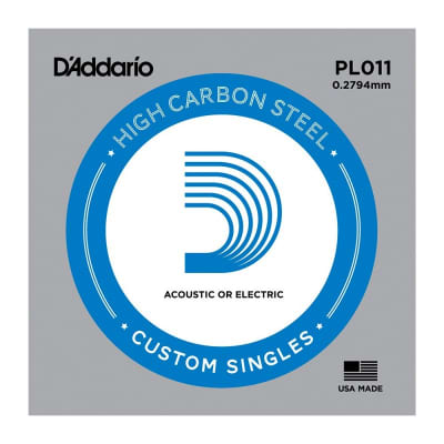 D'Addario Nickel Plain Electric/Acoustic Single String PL011