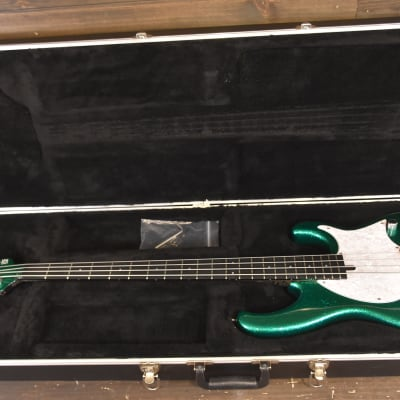 Modulus Funk Unlimited FU4 Flea Bass FB4 2012 - Rare Flake Green Sparkle for sale