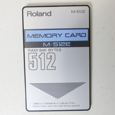 Roland D-50 - M-512E RAM Card - Loaded w/ Bo Tomlyn's Top 40 Sounds