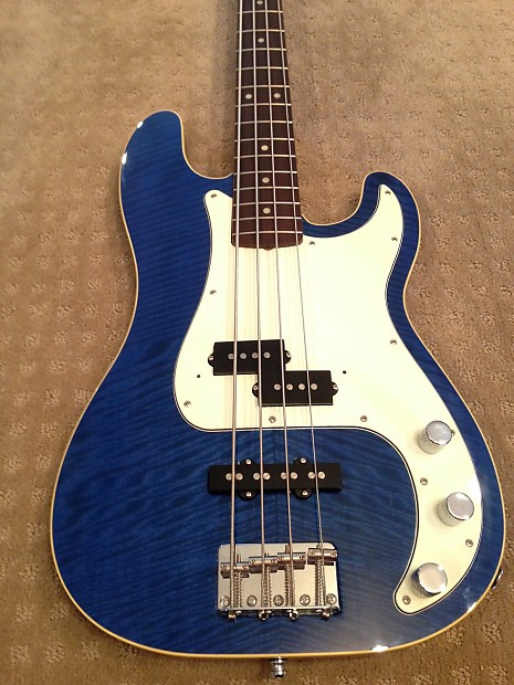 Fender Aerodyne Classic Precision Bass Special 2006 2008 Flame Maple Blue With Matching Headstock