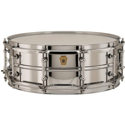 """Ludwig LB400BT Brass Edition Supraphonic 5x14"""" Snare Drum with Tube Lugs"""