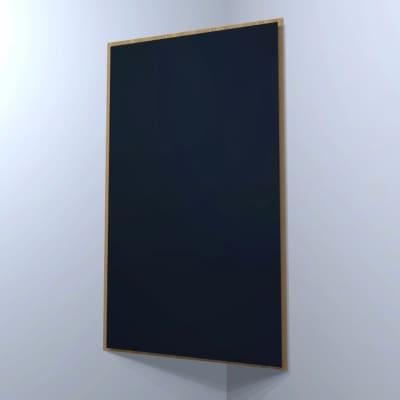 FRAMED CORNER BASS TRAP - Black & Special Walnut - 4ft x 2ft x 3.5in