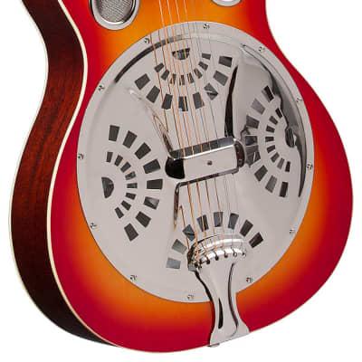 Regal RD-40CH Cherry Sunburst Studio Series Roundneck Resophonic Guitar for sale