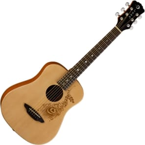 Luna SAF-HEN Safari Henna 3/4 Scale Guitar Natural