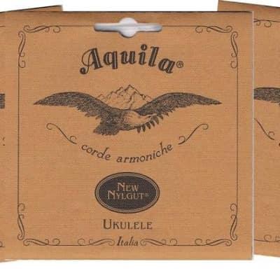 3 PACK 15U Aquila Tenor Ukulele Nylgut Low GCEA Tuning - Wound G