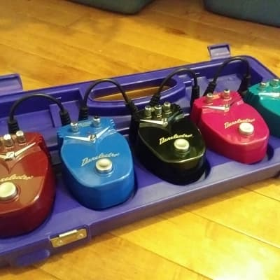 Danelectro Mini-Multi-Effects (5 separate pedals with case and cables) for sale