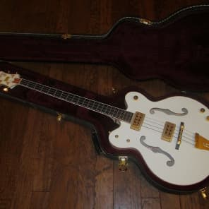 Gretsch G6136LSB White Falcon Bass 2012 From Factory W/O Back Pad! for sale