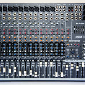 Mackie CFX16 MKII 16-Channel Compact Integrated Live Sound Mixer