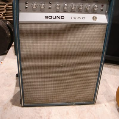 Sound Big 25 RT 60's 70's blue Tube Amp Combo made in Italy for sale