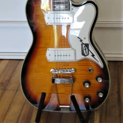 Eastwood Airline Tuxedo with Rosewood Fretboard 2010s Sunburst for sale