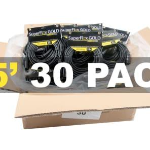 SuperFlex GOLD SFM-25 Premium XLR Cables - 25' (30-Pack)