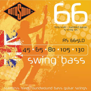Rotosound RS665LD Swing Bass 66 Roundwound Long Scale 5-String Bass Strings - Heavy (45-130)