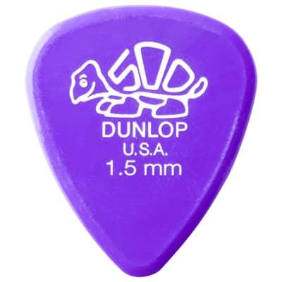 Dunlop Delrin 500 Guitar Picks (set of 12) - 1.5