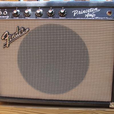 Fender Princeton 1964 Pre-CBS FEIC 12-Watt Vintage Blackface Guitar Combo Amp for sale
