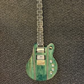 RWK Set  (Solid Electric Through-Neck Guitar)  Translucent Green for sale