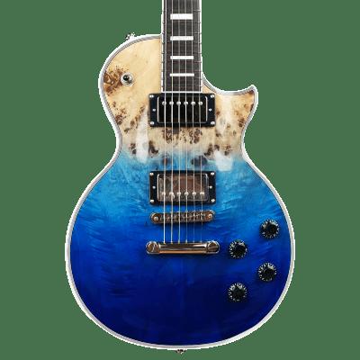 10S GF Modern Poplar Single Cut Burl Electric Guitar Blue Natural Fade for sale
