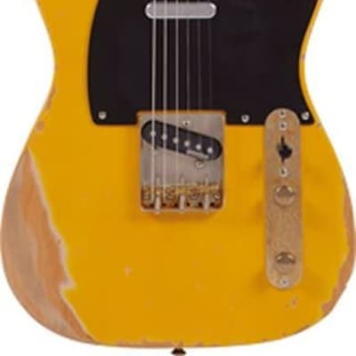 Vintage V52MRBS Icon Distressed SS Alder Body Electric Guitar Butterscotch