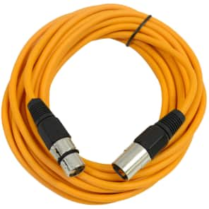 Seismic Audio SAXLX-25 XLR Male to XLR Female Mic Cable - 25'