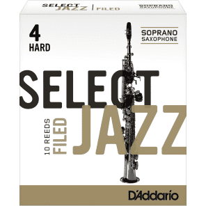 Rico RSF10SSX4H Select Jazz Soprano Saxophone Reeds, Filed - Strength 4 Hard (10-Pack)