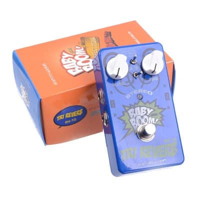 Biyang Baby Boom RV-10  blue Effects 3 Mode Tri Reverb Stereo True Bypass Electric Guitar effect Ped