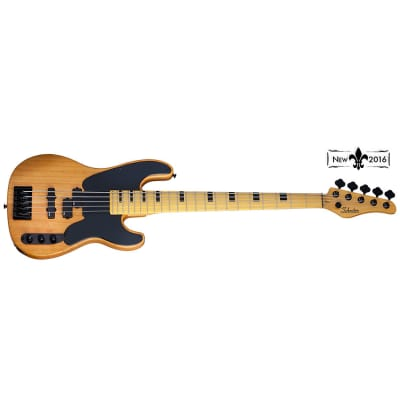 Schecter Model-T Session-5 String Bass Maple Fretboard, Aged Natural Satin for sale