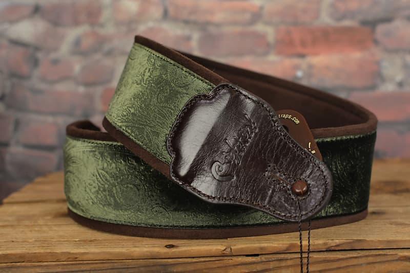 right on straps jazz cashmere green handmade guitar strap w reverb. Black Bedroom Furniture Sets. Home Design Ideas