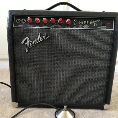 Fender Champ 12 1989 Black /red for sale