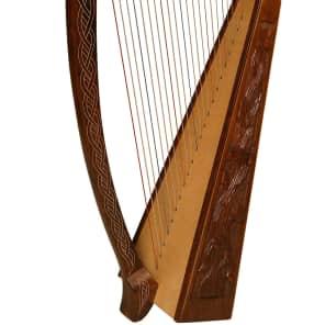 Roosebeck HTHA-V 22-String Heather Harp with Vine Design