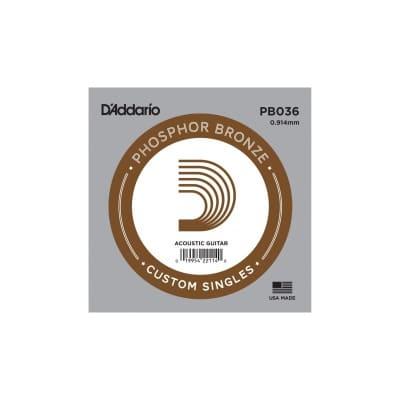 D'Addario Phosphor Bronze Acoustic Single String PB036