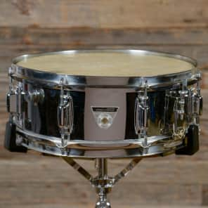 """Ludwig S-101 Standard 5x14"""" Chrome over Aluminum Snare 1970s"""