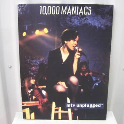 10000 Maniacs MTV Unplugged Sheet Music Song Book Songbook