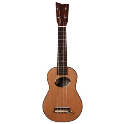 Kremona Coco Soprano 4-String Ukulele with Hardshell Case, 18 Frets, Rosewood Fingerboard, Solid Cedar Top, Solid Rosewood Back & Sides, Matte for sale