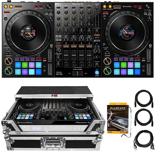 Pioneer DDJ-1000 4-Channel RekordBox USB Pro DJ Controller w/ Pads + Silver  Case