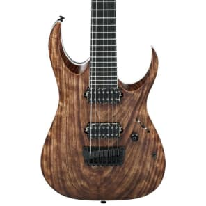 Ibanez RGAIX7U-ABS RGA Iron Label Series 7-String Bareknuckle HH Electric Guitar Antique Brown Stained