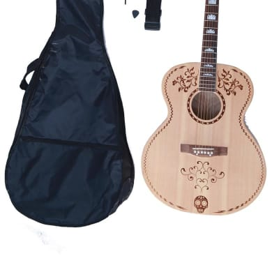 Glen Burton GAJ06DDM-NT Solid Spruce Top 42-Inch 6-String Acoustic Guitar w/Bag, Strap,Picks&Strings for sale