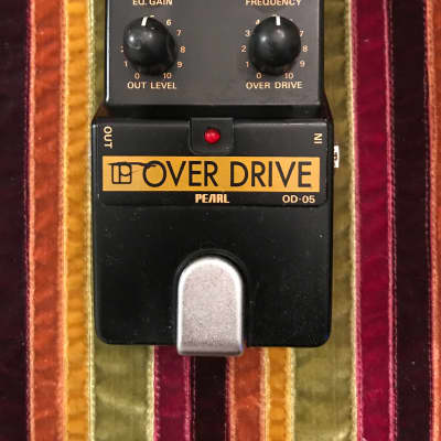 Pearl OD-05 overdrive W/frequency and EQ Gain L@@K! 1988 Black/yellow for sale